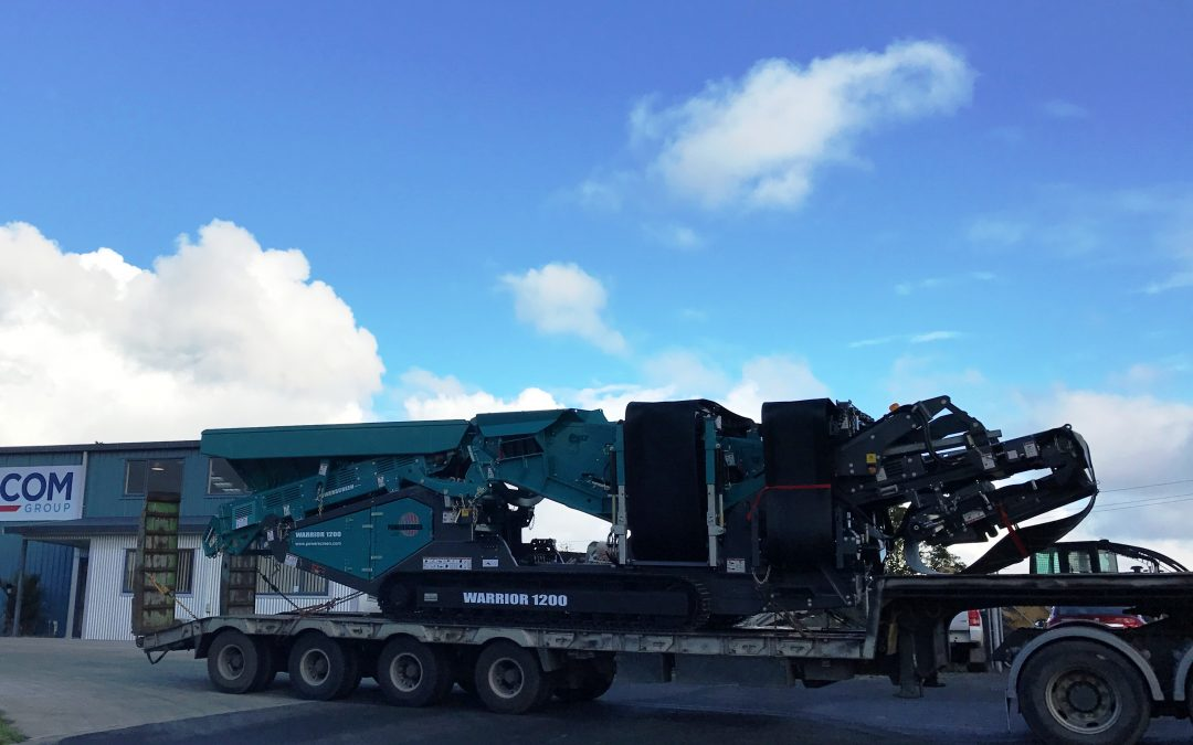 The Powerscreen Warrior 1200 arrives in New Zealand