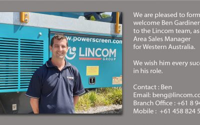 NEW AREA SALES MANAGER APPOINTMENT AT LINCOM GROUP FOR WESTERN AUSTRALIA